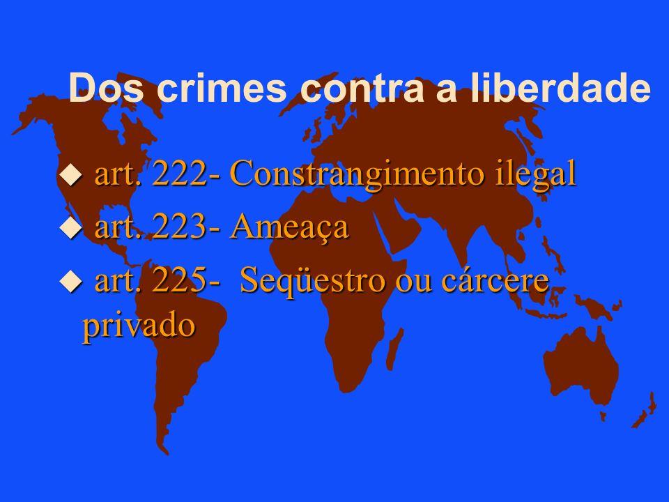 Dos Crimes contra a Honra u art. 214- Calúnia....fato definido como crime... u art. 215- Difamação....fato ofensivo à sua reputação: u art. 216- Injúr