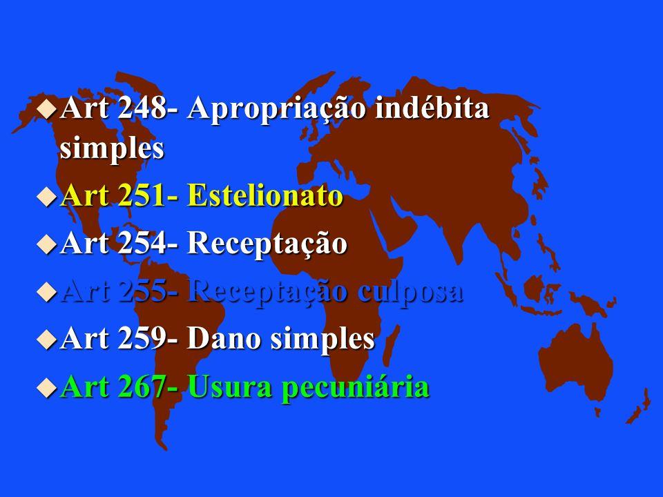 u Art 244- Extorsão mediante seqüestro u Art 245- Chantagem Prof. Audálio Ferreira Sobrinho