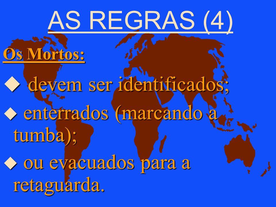 AS REGRAS (3) As Pessoas Civis: u respeitar; u tratar humanamente; u proteger contra os maus tratos. Prof. Audálio Ferreira Sobrinho