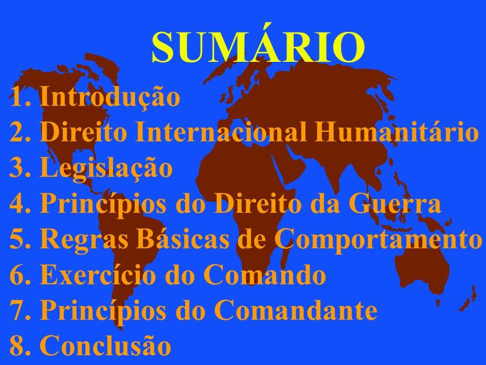 OBJETIVOS u 1. Apresentar a legislação do D.I.H. u 2. Identificar os princípios básicos do Direito da Guerra. Prof. Audálio Ferreira Sobrinho