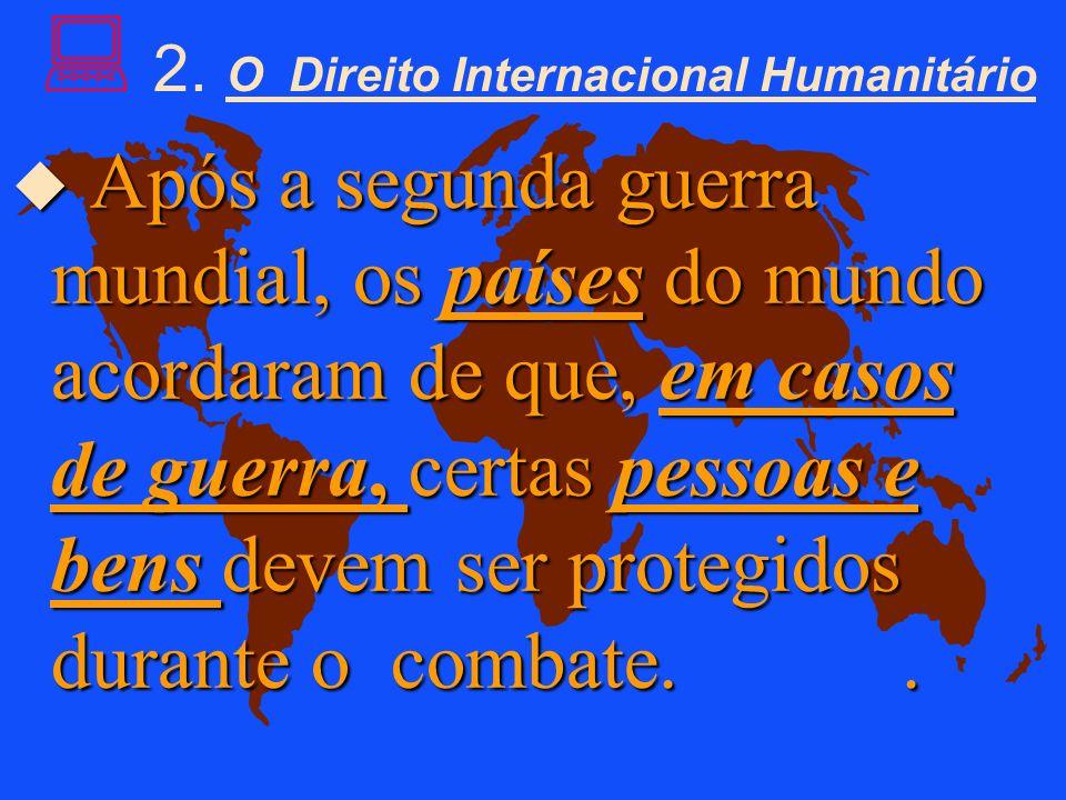 DIREITO INTERNACIONAL DOS DIREITOS HUMANOS Tem como objetivo defender todos os direitos e todas as liberdades fundamentais de todos os seres humanos.