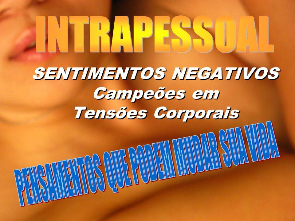 SENTIMENTOS NEGATIVOS Campeões em Tensões Corporais