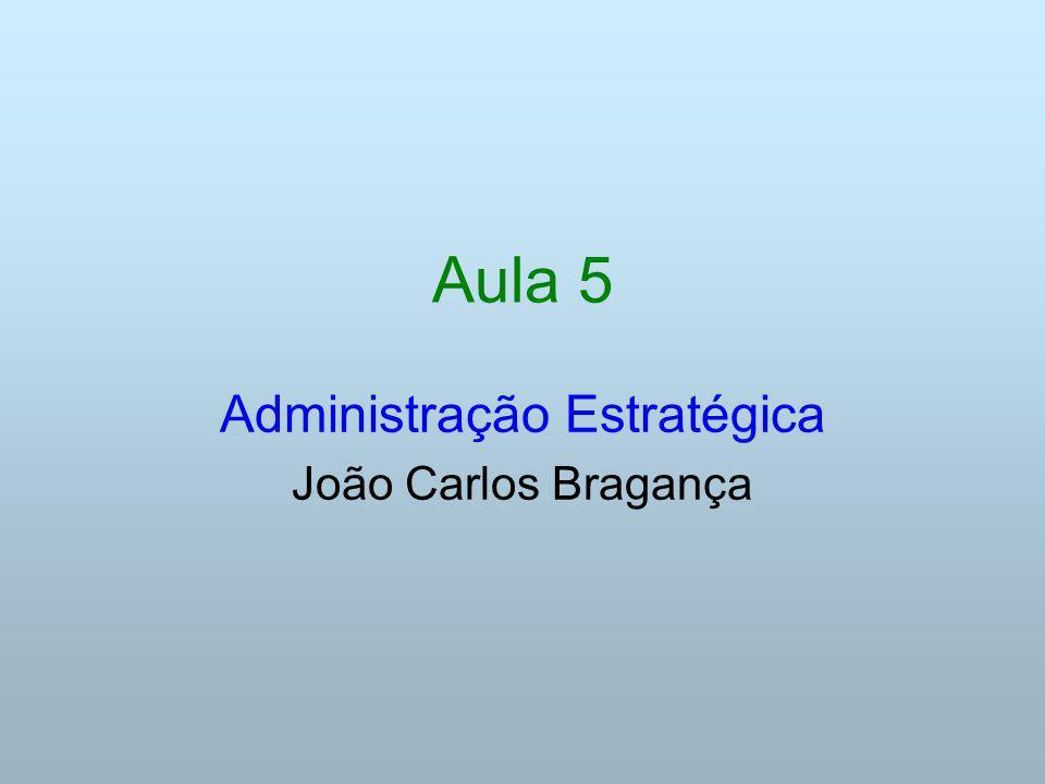Aula 5 Administração Estratégica João Carlos Bragança