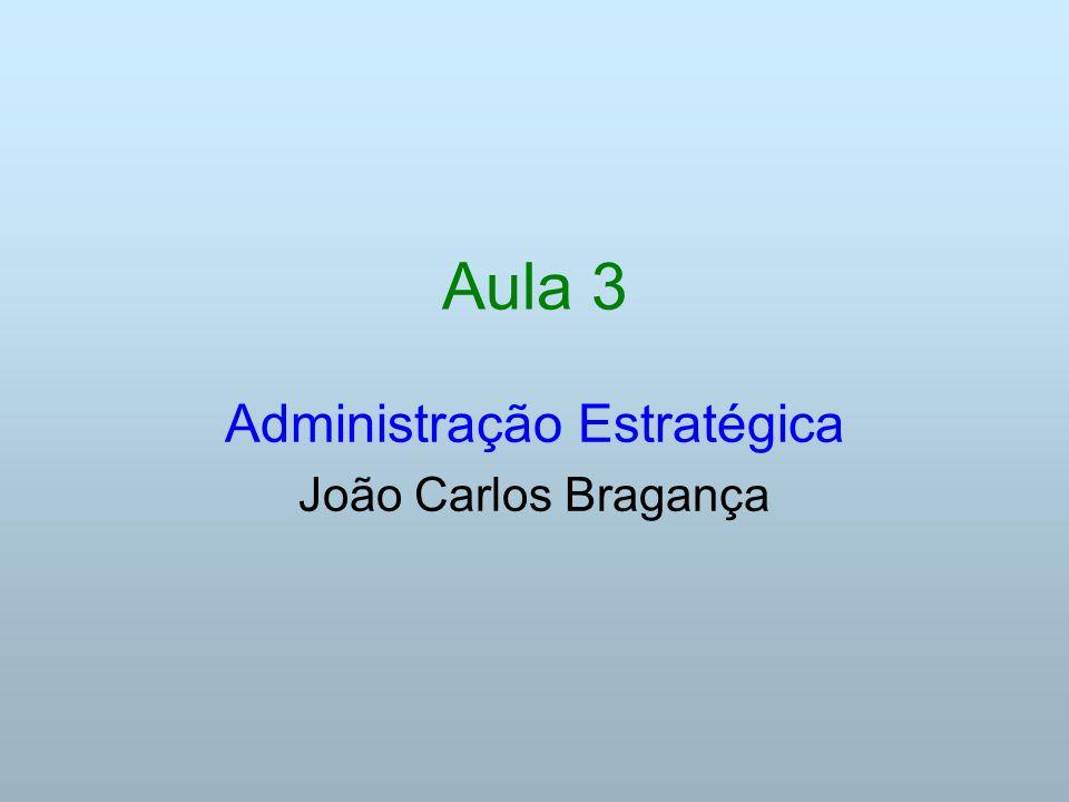 Aula 3 Administração Estratégica João Carlos Bragança