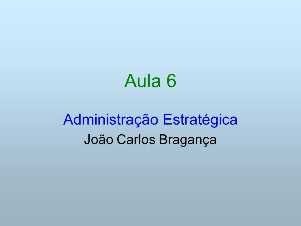 Aula 6 Administração Estratégica João Carlos Bragança