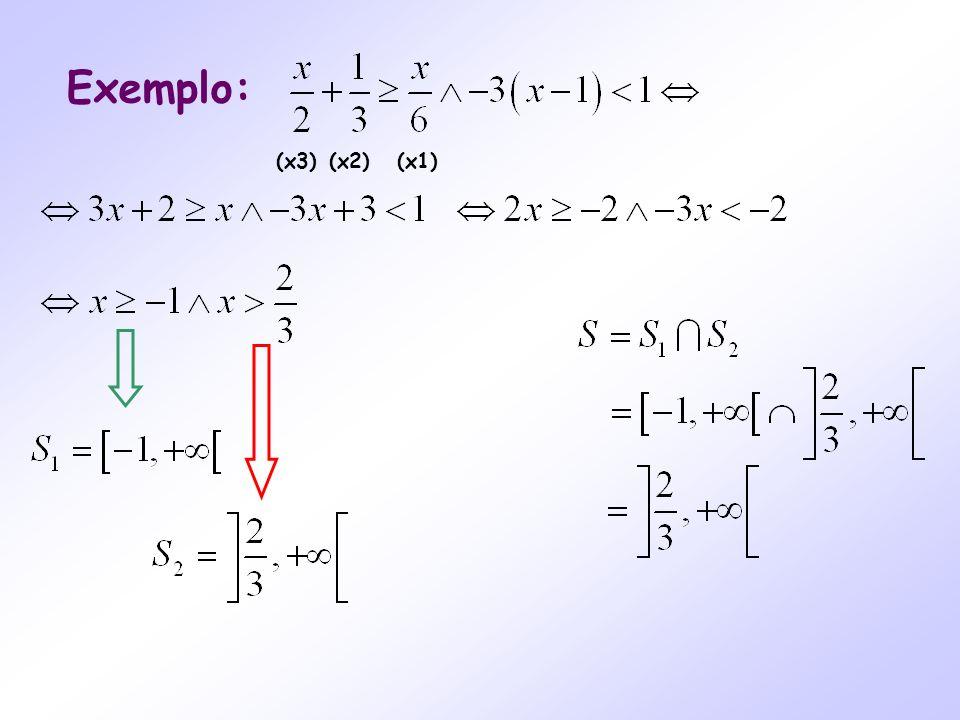 Exemplo: (x3)(x2)(x1)