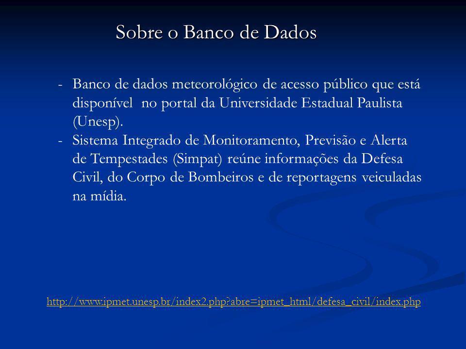 -Banco de dados meteorológico de acesso público que está disponível no portal da Universidade Estadual Paulista (Unesp).