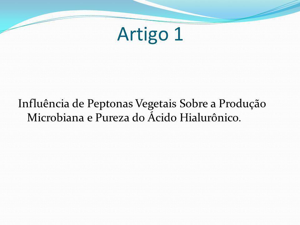 Objetivos Substituição de extrato de leveduras por peptonas vegetais Peptona de soja (SP) Peptona de batata (PP) Peptona de trigo (WP) Mistura de PVs (MPV) Quantificação de proteínas ou peptídeos retidos em AH produzido Estudo cinético de fermentações.
