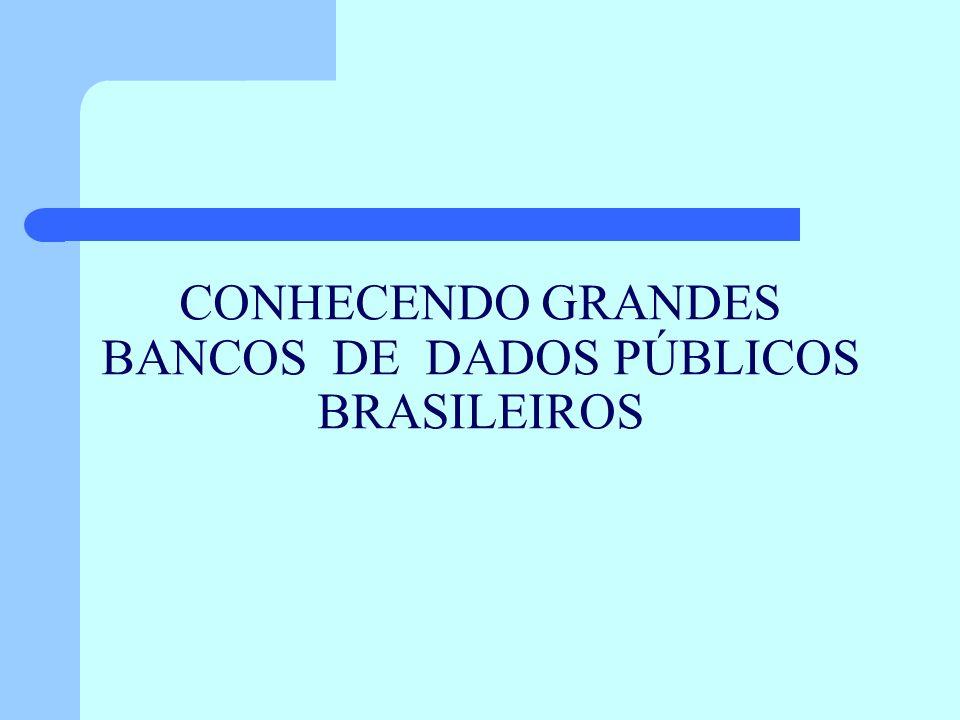 CONHECENDO GRANDES BANCOS DE DADOS PÚBLICOS BRASILEIROS
