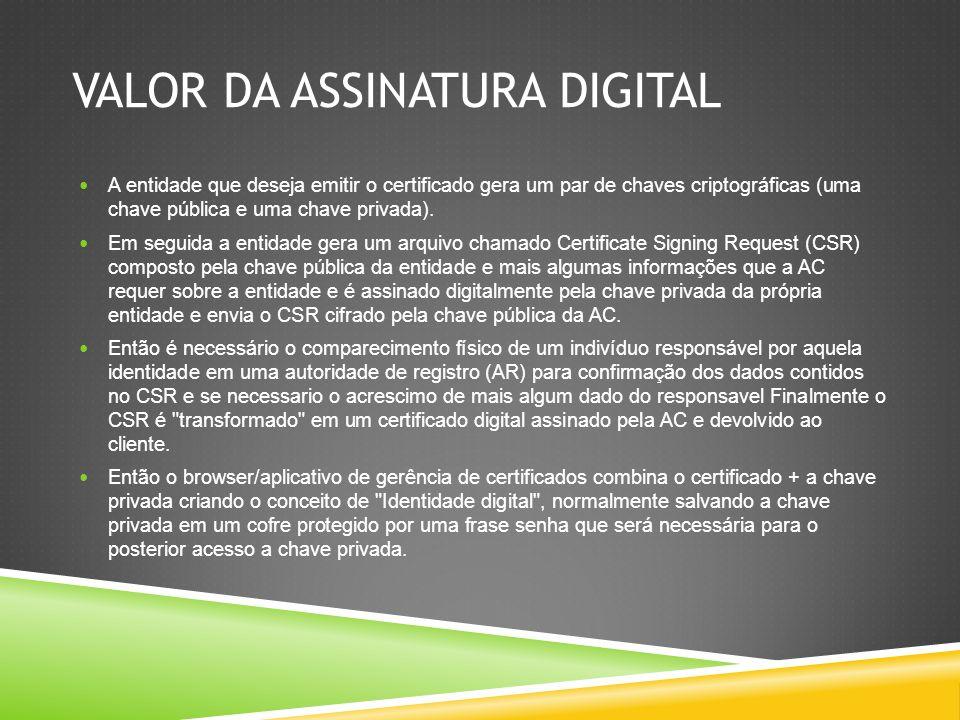 Aplicações A Certificação hoje já é uma realidade nas empresas e para muitas pessoas que necessitam utilizar algum serviço que envolve tecnologia.