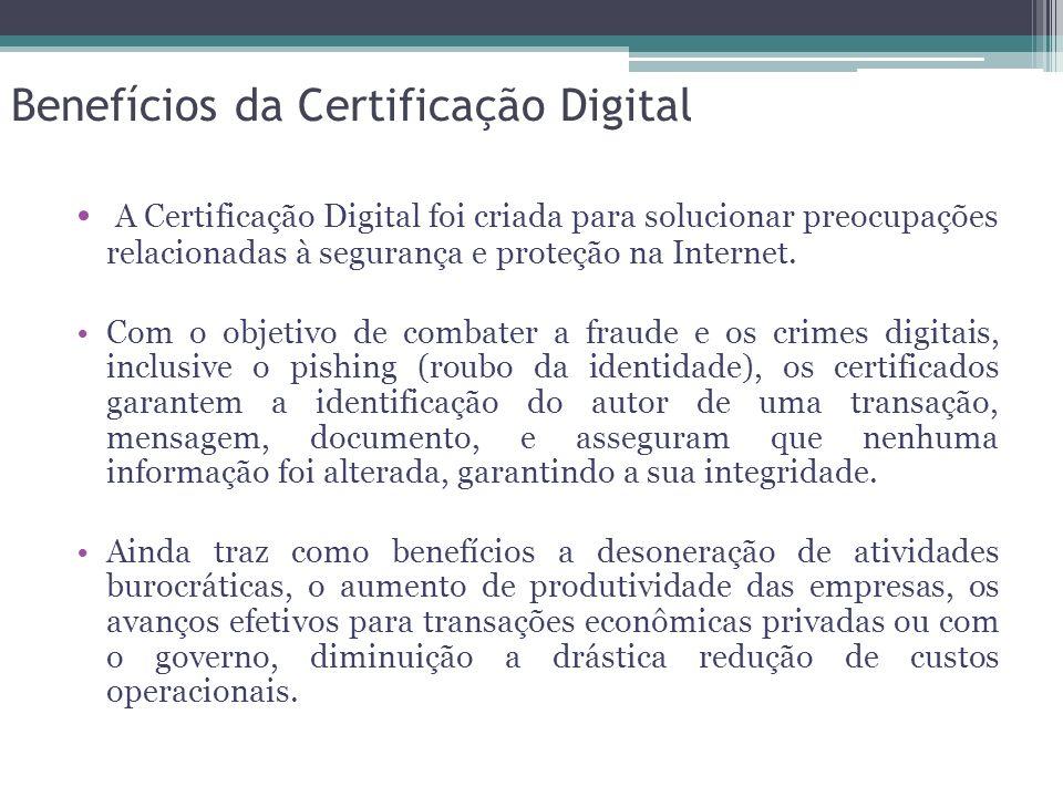 A Certificação Digital foi criada para solucionar preocupações relacionadas à segurança e proteção na Internet. Com o objetivo de combater a fraude e