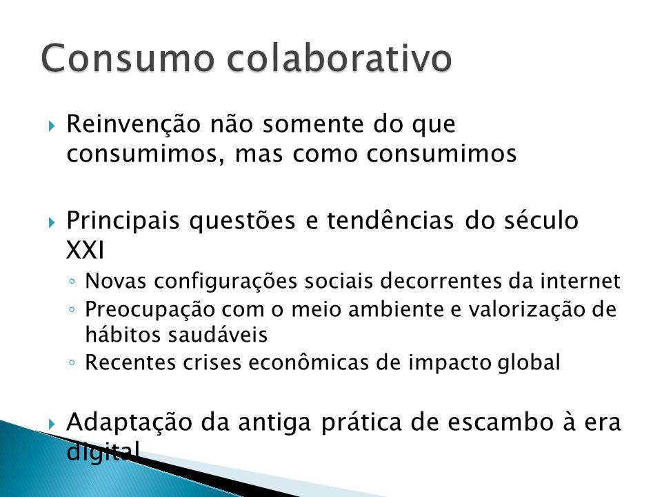 Reinvenção não somente do que consumimos, mas como consumimos Principais questões e tendências do século XXI Novas configurações sociais decorrentes d
