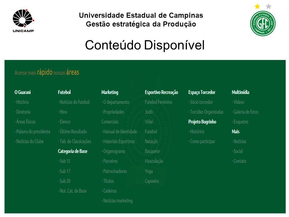 Universidade Estadual de Campinas Gestão estratégica da Produção Para receber newsletter é preciso se inscrever como Sócio.