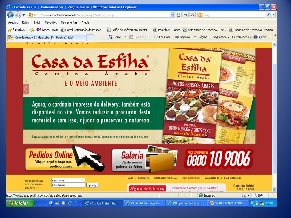 O site consta informações da História do Restaurante