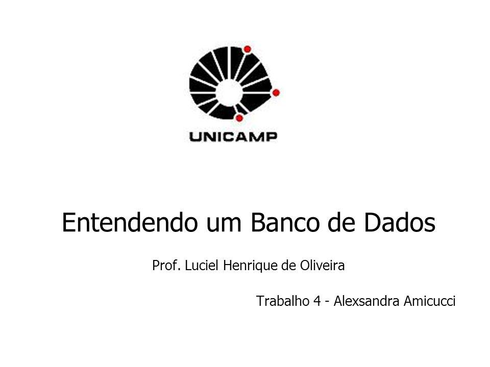 Entendendo um Banco de Dados Prof. Luciel Henrique de Oliveira Trabalho 4 - Alexsandra Amicucci