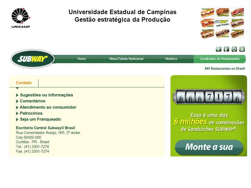 Universidade Estadual de Campinas Gestão estratégica da Produção.