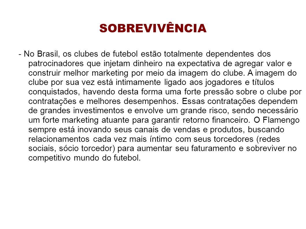 SOBREVIVÊNCIA - No Brasil, os clubes de futebol estão totalmente dependentes dos patrocinadores que injetam dinheiro na expectativa de agregar valor e