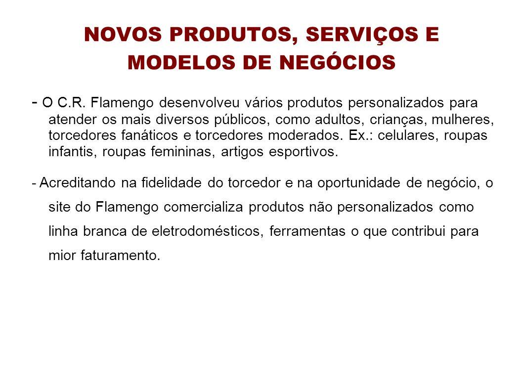 NOVOS PRODUTOS, SERVIÇOS E MODELOS DE NEGÓCIOS - O C.R. Flamengo desenvolveu vários produtos personalizados para atender os mais diversos públicos, co