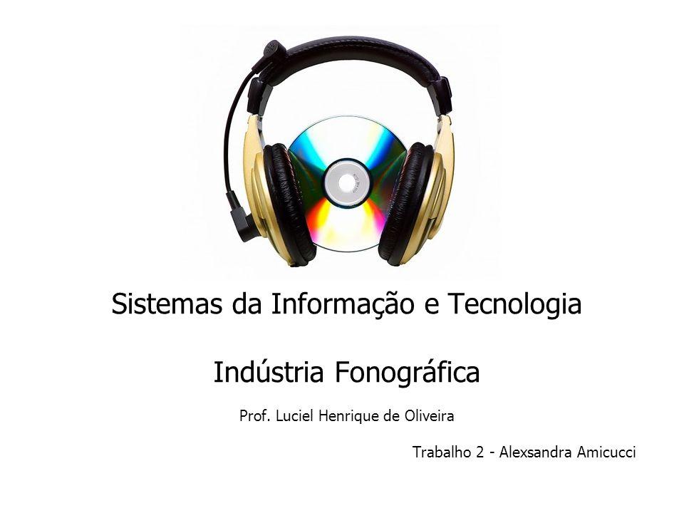 Sistemas da Informação e Tecnologia Indústria Fonográfica Prof.
