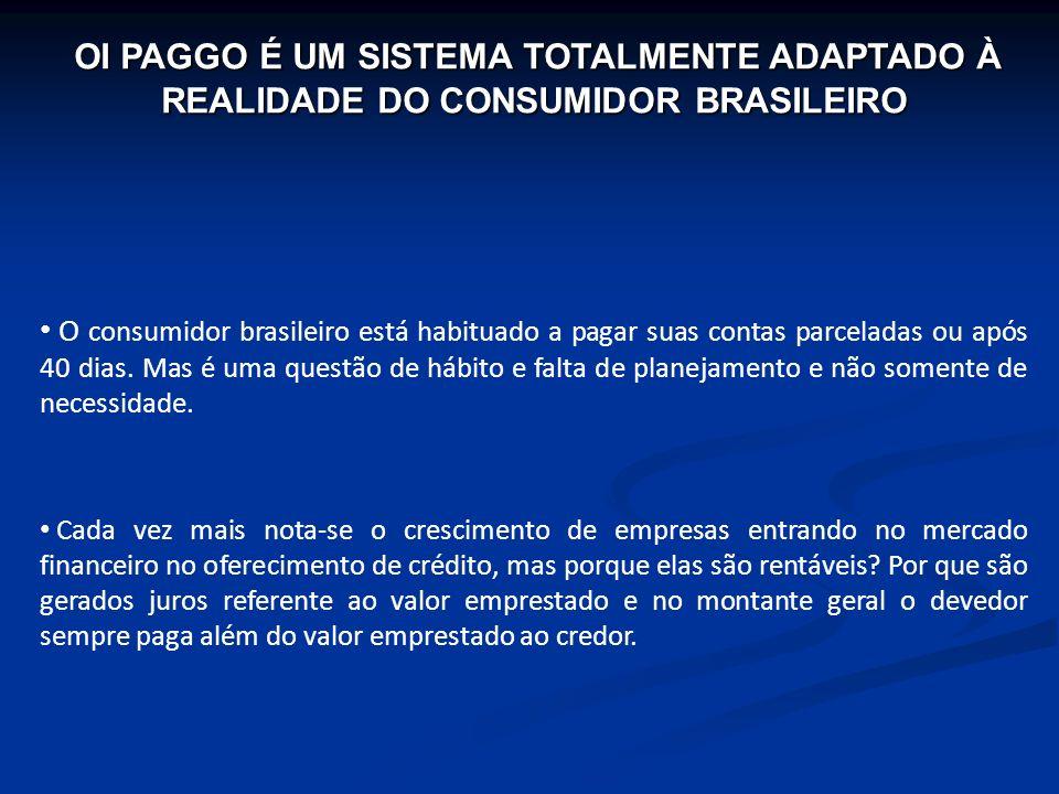 O consumidor brasileiro está habituado a pagar suas contas parceladas ou após 40 dias. Mas é uma questão de hábito e falta de planejamento e não somen