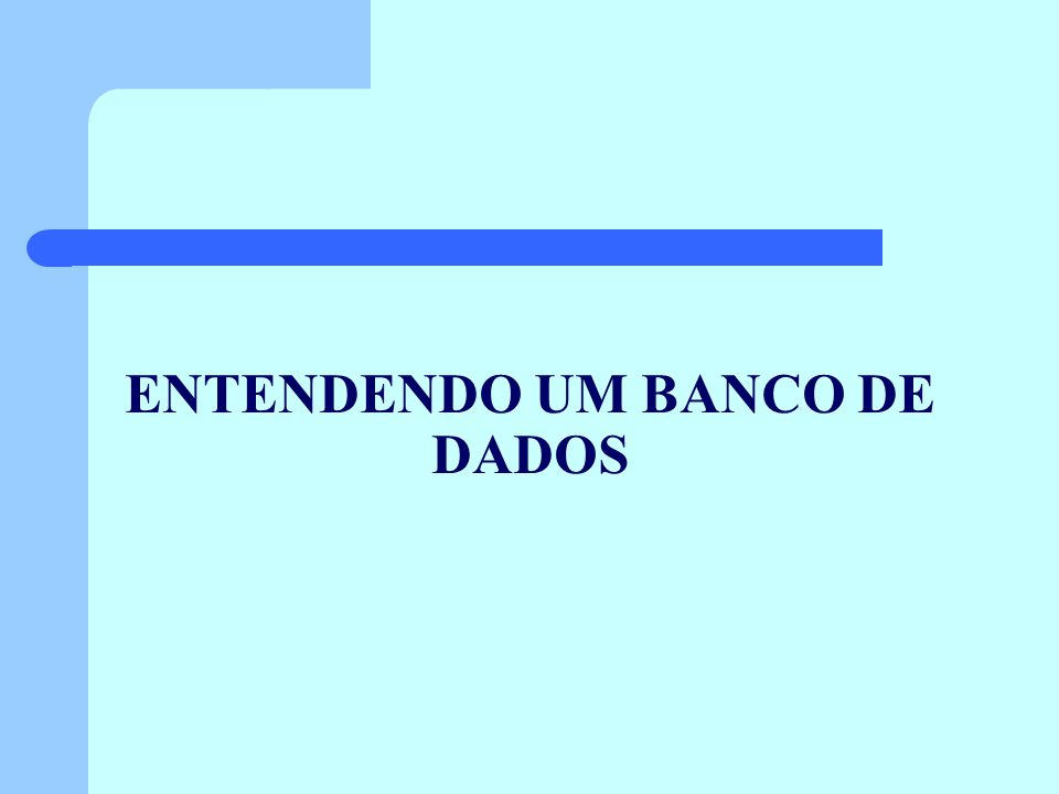 ENTENDENDO UM BANCO DE DADOS