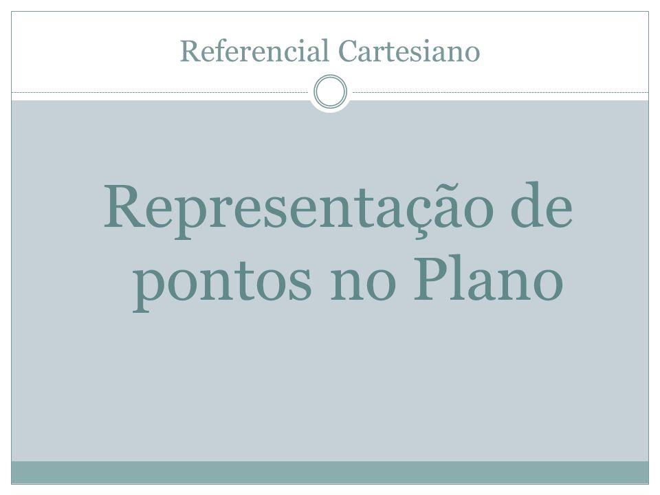 Referencial Cartesiano Representação de pontos no Plano