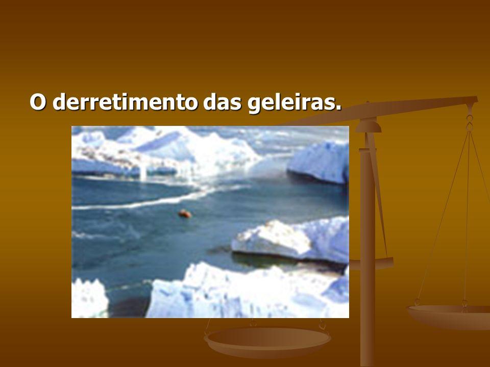 O derretimento das geleiras.