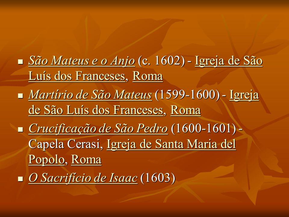 São Mateus e o Anjo (c. 1602) - Igreja de São Luís dos Franceses, Roma São Mateus e o Anjo (c. 1602) - Igreja de São Luís dos Franceses, Roma São Mate