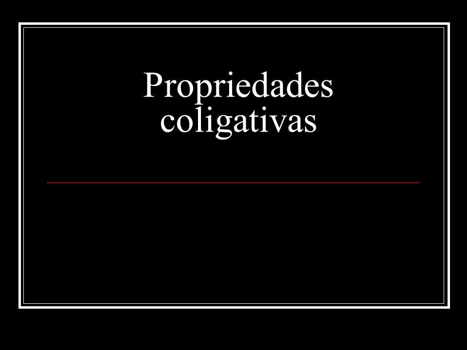 As propriedades coligativas são propriedades que se originam a partir da presença de um soluto não-volátil e um solvente.