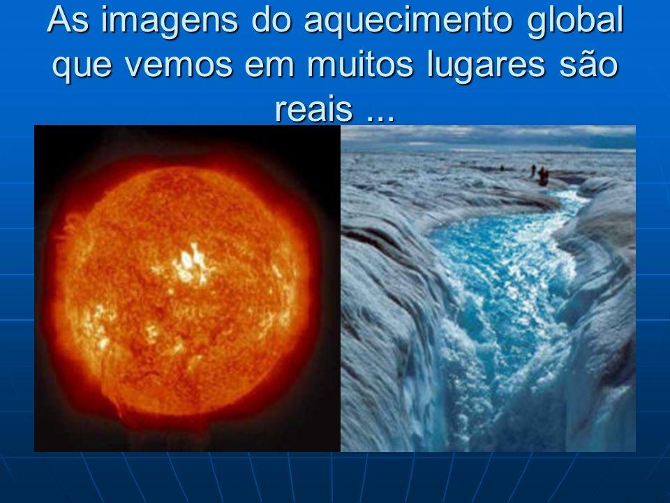 As imagens do aquecimento global que vemos em muitos lugares são reais...