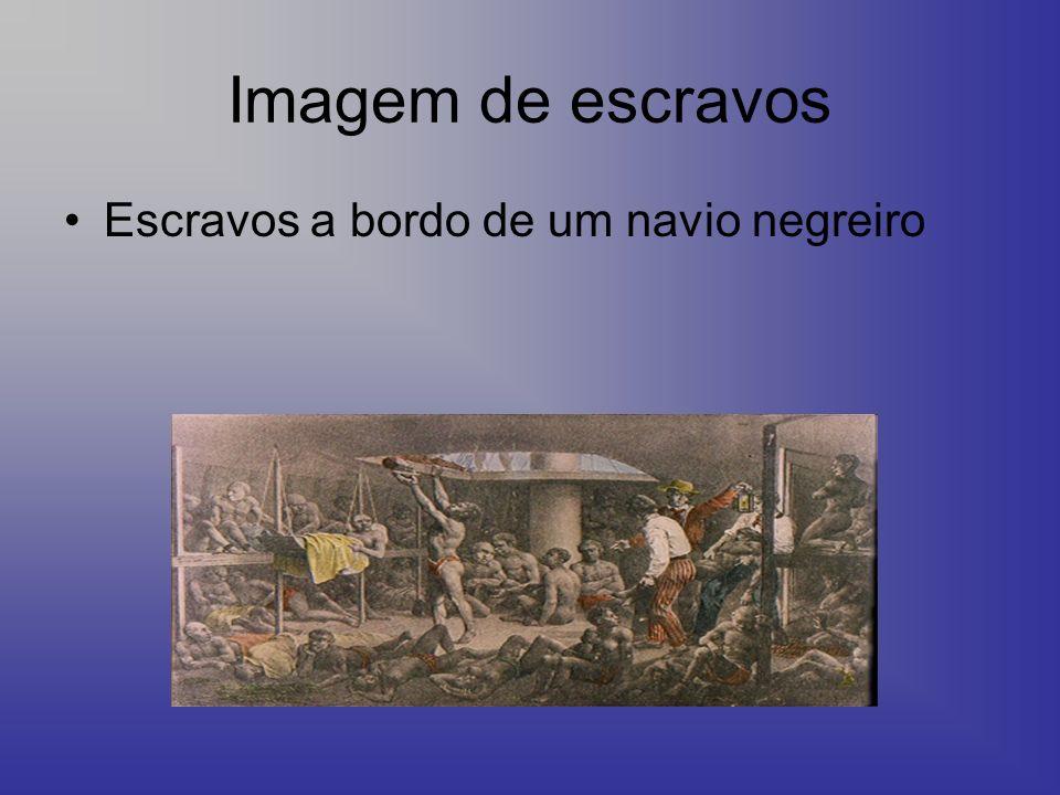 Imagem de escravos Escravos a bordo de um navio negreiro