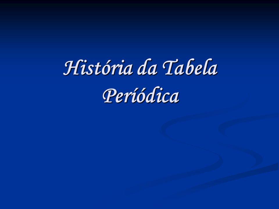 História da Tabela Períódica