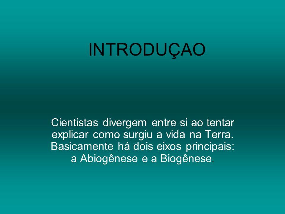 BIOGÊNESE As idéias dentro do eixo da Abiogênese são bastante semelhantes, no entanto a Biogênese tem várias ramificações sendo que veremos apenas as mais importantes.