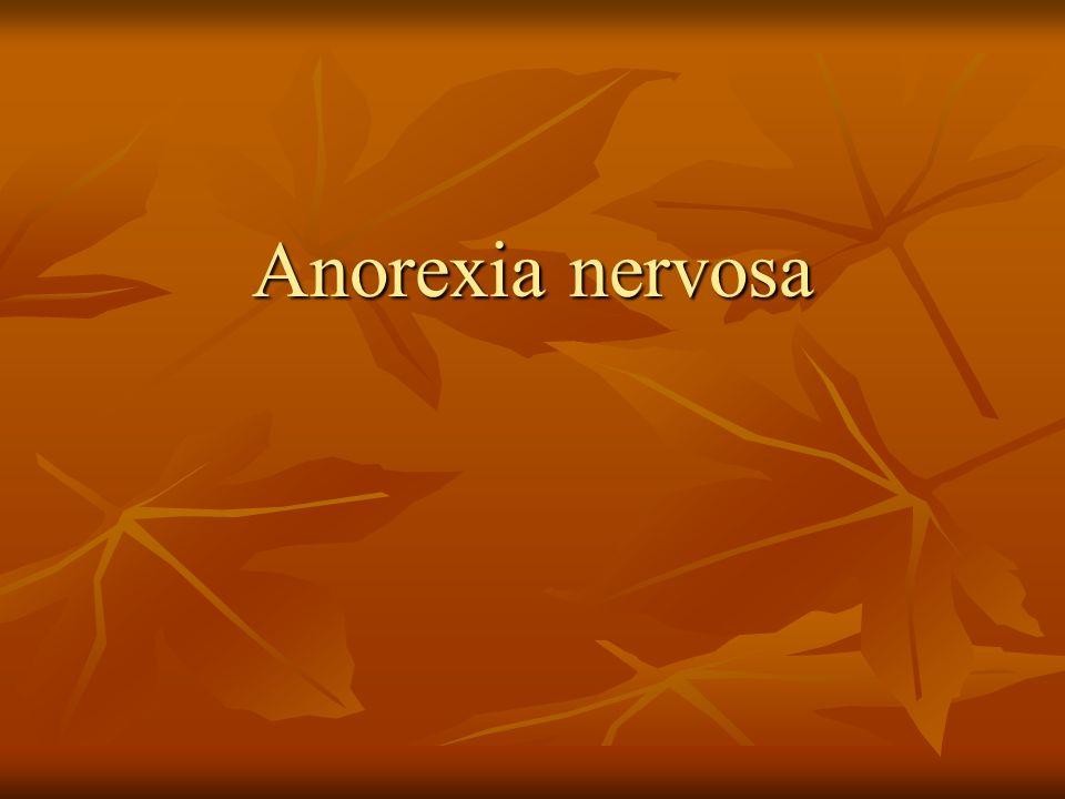 A anorexia nervosa é uma disfunção alimentar, caracterizada por uma rígida e insuficiente dieta alimentar (caracterizando em baixo peso corporal) e estresse físico.
