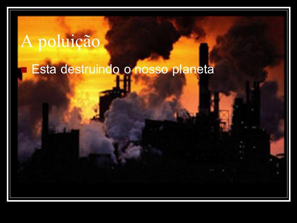 A poluição Esta destruindo o nosso planeta