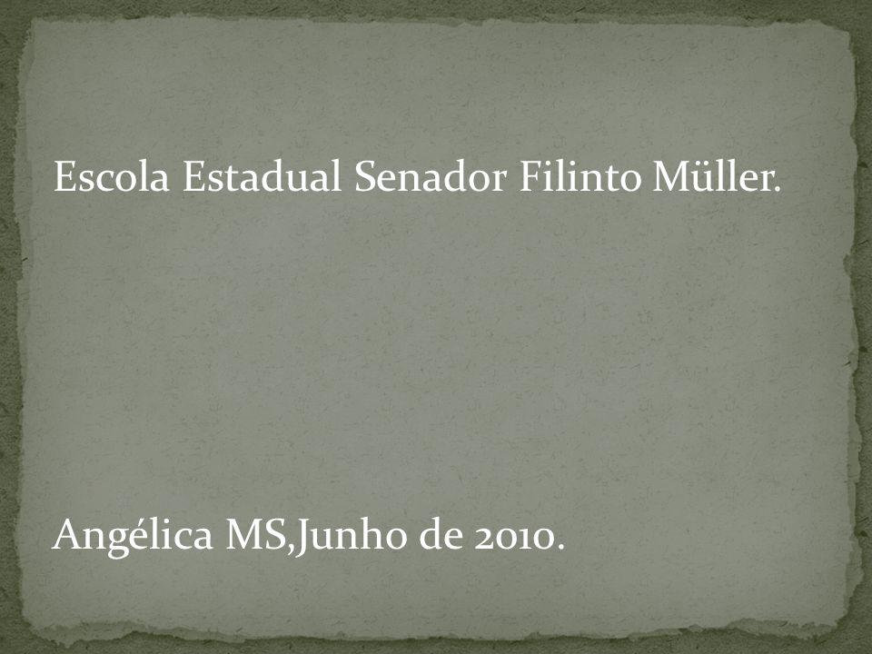 Escola Estadual Senador Filinto Müller. Angélica MS,Junho de 2010.