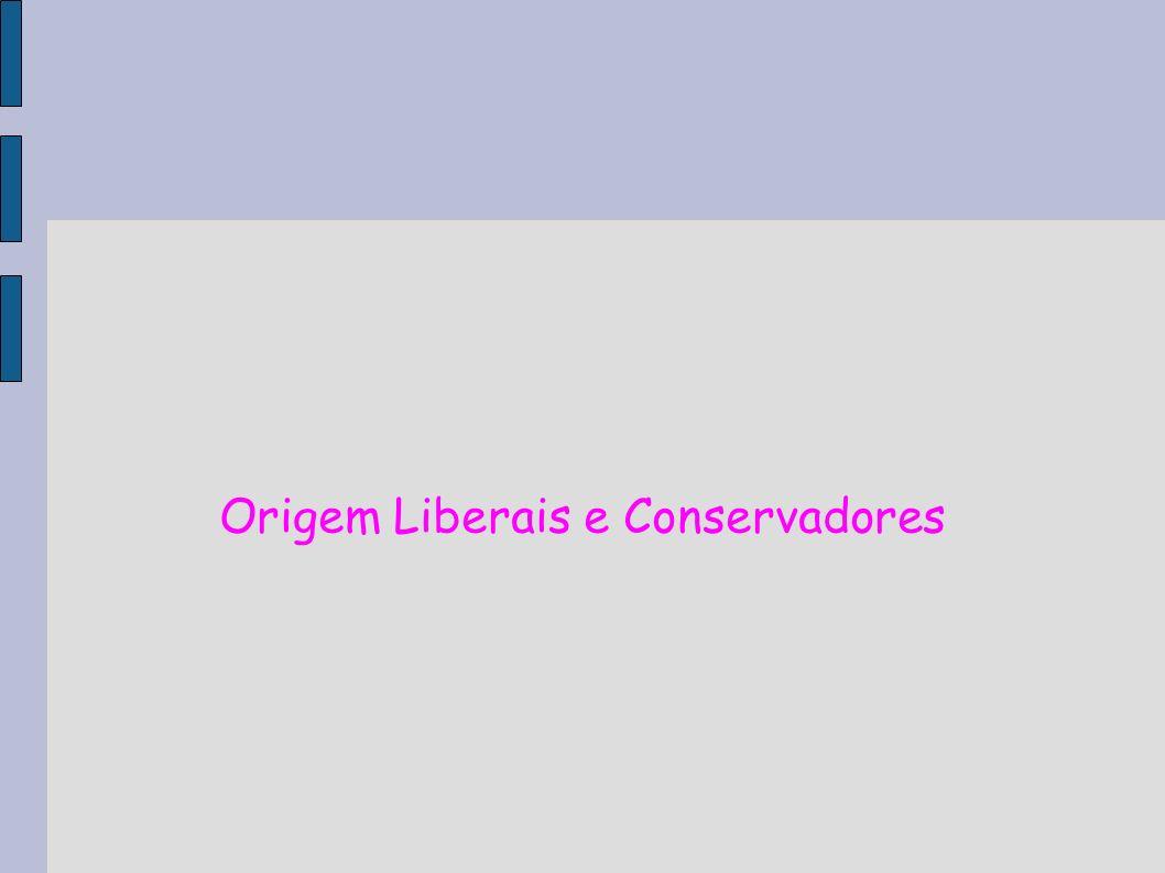 Origem Liberais e Conservadores