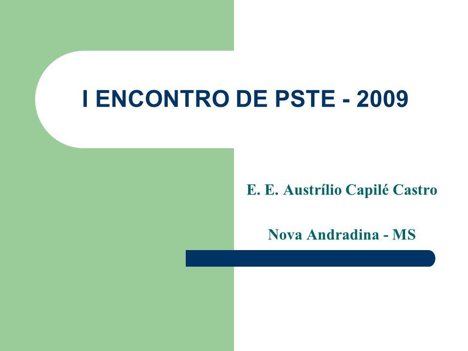 I ENCONTRO DE PSTE - 2009 E. E. Austrílio Capilé Castro Nova Andradina - MS