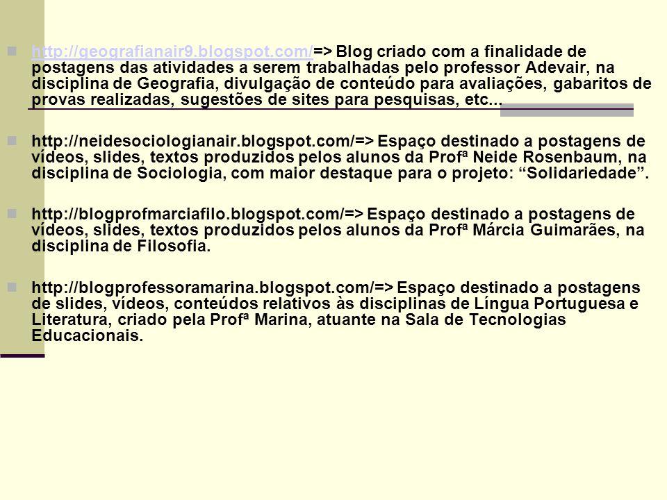 Páginas no WIKI http://prof-nair-palacio.wikispaces.com/ http://picoli.wikispaces.com/ http://kennedyab.wikispaces.com/ http://teachermarina.wikispaces.com/ http://consumoconsciente01.wikispaces.com/ http://projetoeletricidade.wikispaces.com/ http://profkelle.wikispaces.com/ http://lslnb.wikispaces.com/ http://marcelogomes.wikispaces.com/ http://prorosenbaum.wikispaces.com/ http://jandrey.wikispaces.com/ http://tecnicomarketing.wikispaces.com /