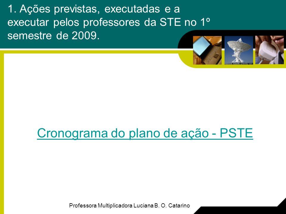2.Realidade de uso da STE nos meses de março – abril – maio Professora Multiplicadora Luciana B.
