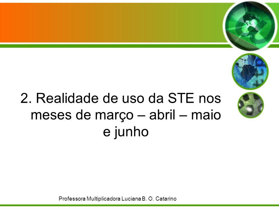2. Realidade de uso da STE nos meses de março – abril – maio e junho Professora Multiplicadora Luciana B. O. Catarino