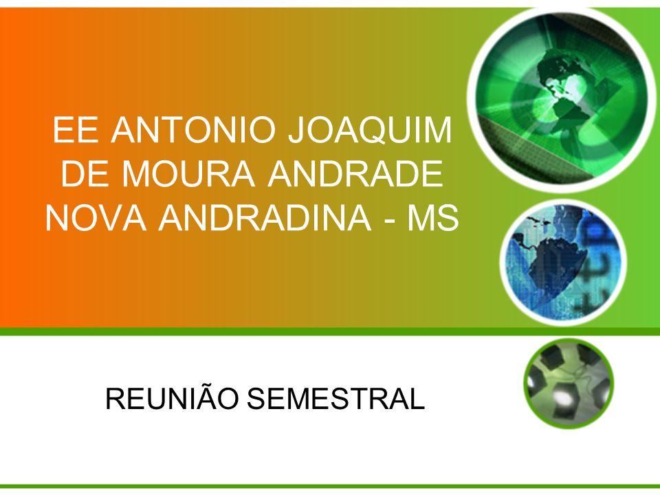 EE ANTONIO JOAQUIM DE MOURA ANDRADE NOVA ANDRADINA - MS REUNIÃO SEMESTRAL