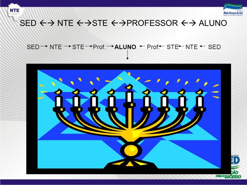 SED NTE STE PROFESSOR ALUNO SED NTE STE Prof. ALUNO Prof. STE NTE SED