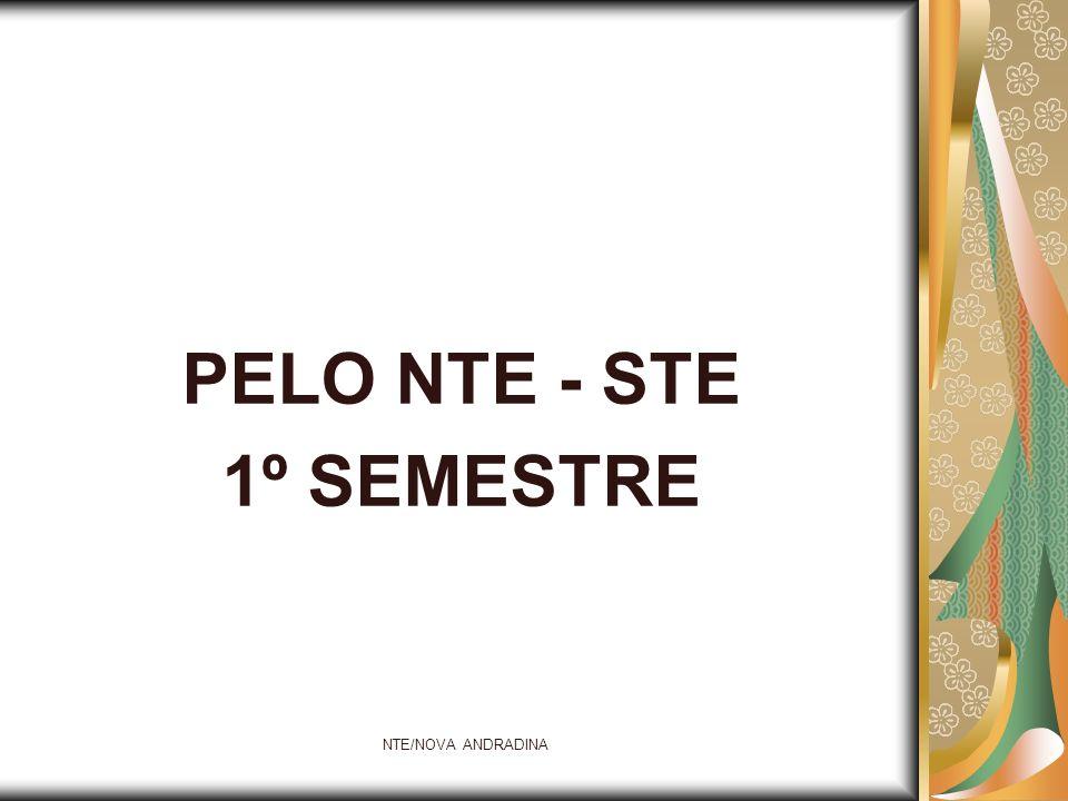 NTE/NOVA ANDRADINA PELO NTE - STE 1º SEMESTRE