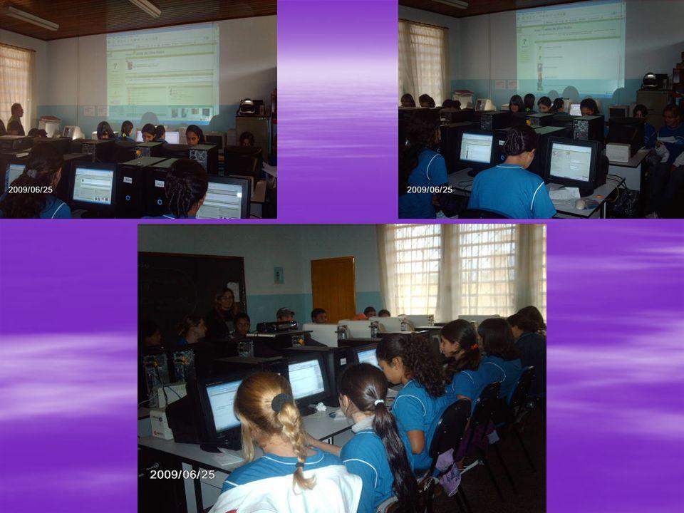 No segundo e no terceiro dias, foram trabalhados os conteúdos teóricos elaborados pela professora em slides e postados anteriormente na página.