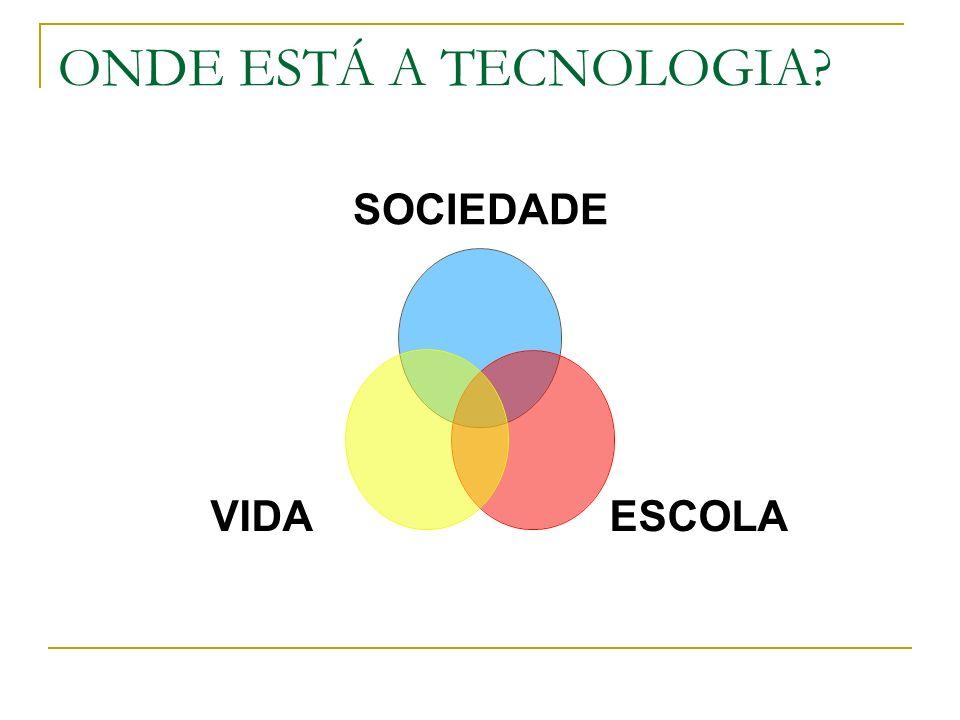 ONDE ESTÁ A TECNOLOGIA? SOCIEDADE ESCOLAVIDA