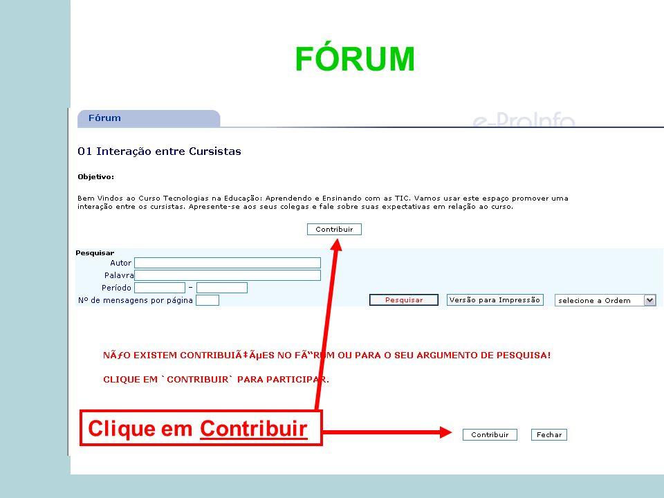 FÓRUM Clique em Contribuir