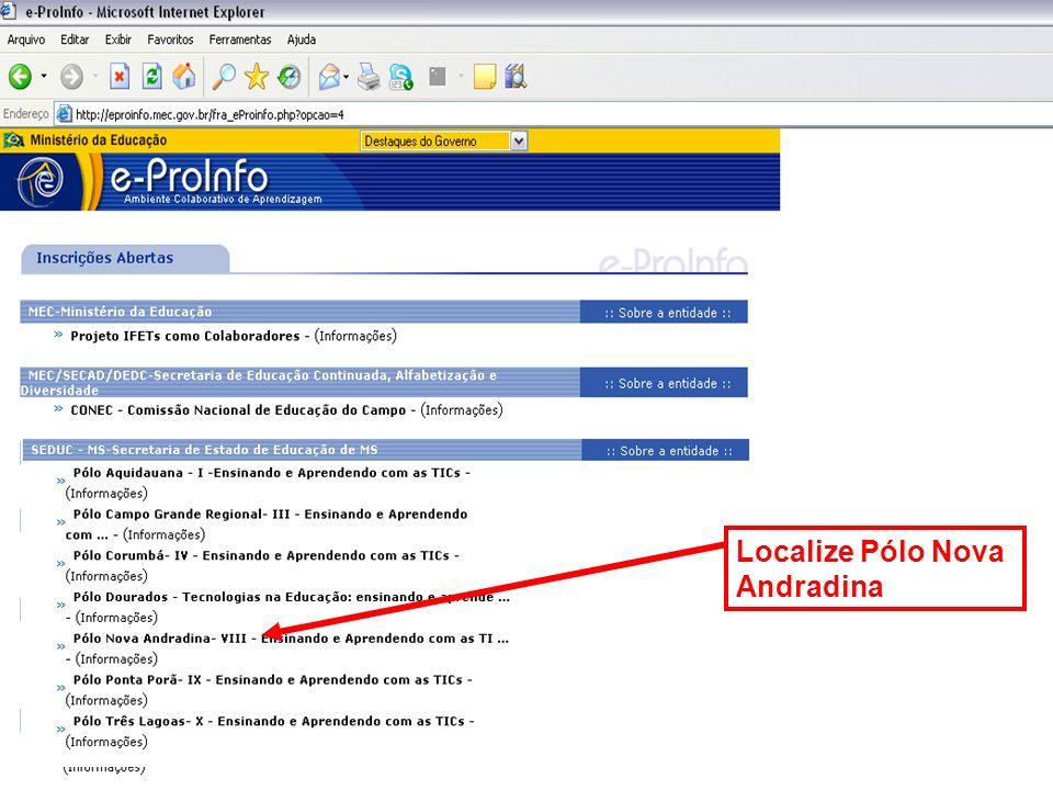 Localize Pólo Nova Andradina