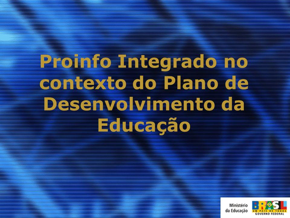 Proinfo Integrado no contexto do Plano de Desenvolvimento da Educação