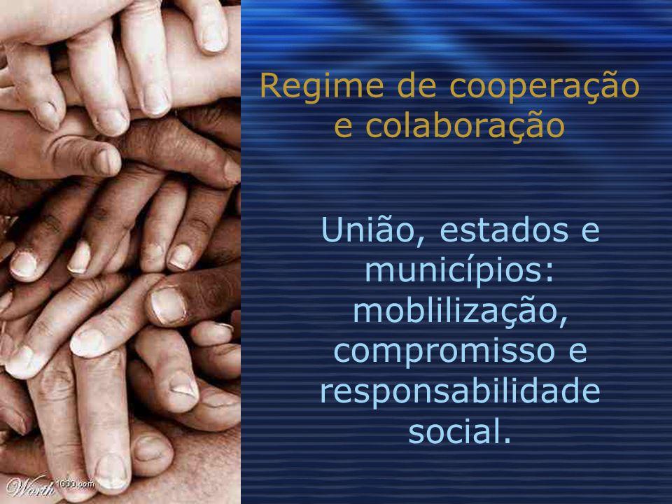 Regime de cooperação e colaboração União, estados e municípios: moblilização, compromisso e responsabilidade social.
